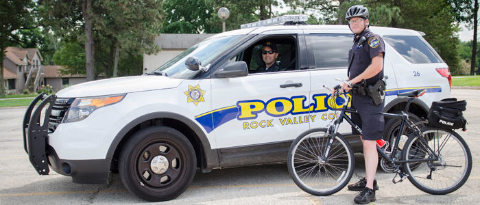 Rock Valley College police officers