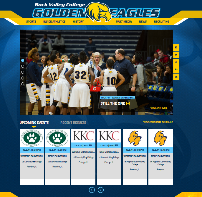Check out the new official website for RVC Athletics!