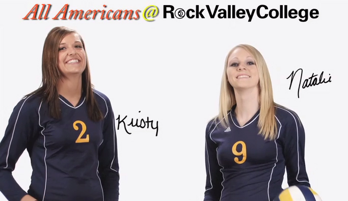 Kristy Bourquin and Natalie Olsen, RVC All-Americans in 2009