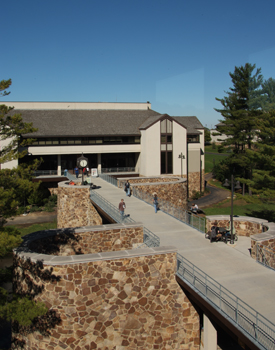 Student Center view from library