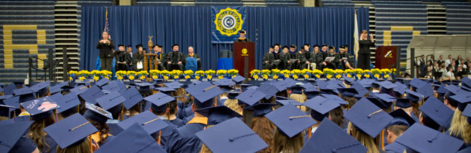 RVC president speaks at commencement ceremony.