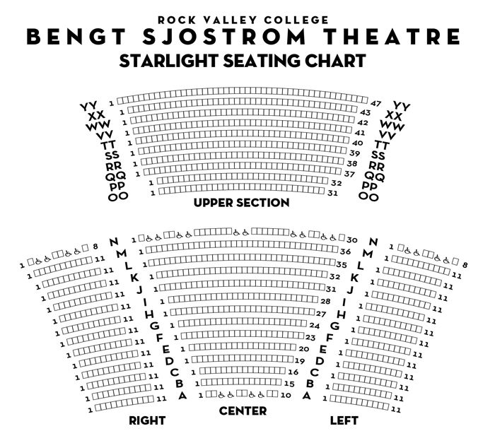 Starlight Theater Seating Chart