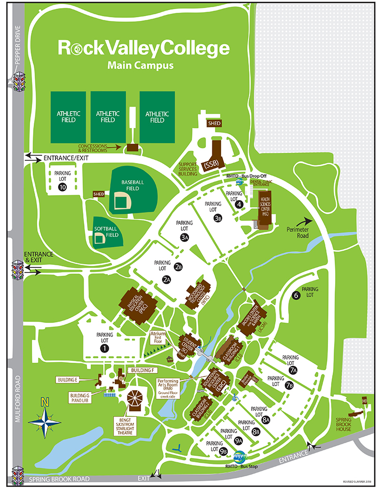 Rockford University Campus Map.Maps