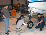 Second semester students in landing gear class.