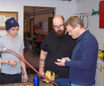 RVC AMT instructor Greg Heckman and second semster students