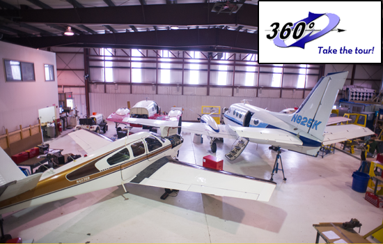 Take a tour of the RVC Aviation Maintenance facility hangar!