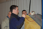 Instructor Todd Morgan demonstrates electrical systems