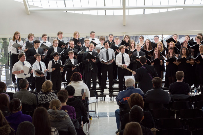 Choir Concert in the Student Center Atrium