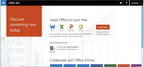 Install Office 365 for your MAC