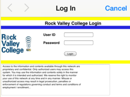 This is what you will see when you open your browser under the RVC-Easy-Web Wi-Fi.