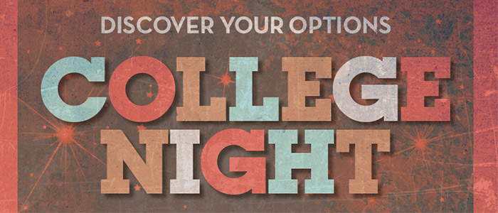 College Night at RVC is a great chance to meet with representatives from more than 100 colleges, universities, and vocational/technical schools!