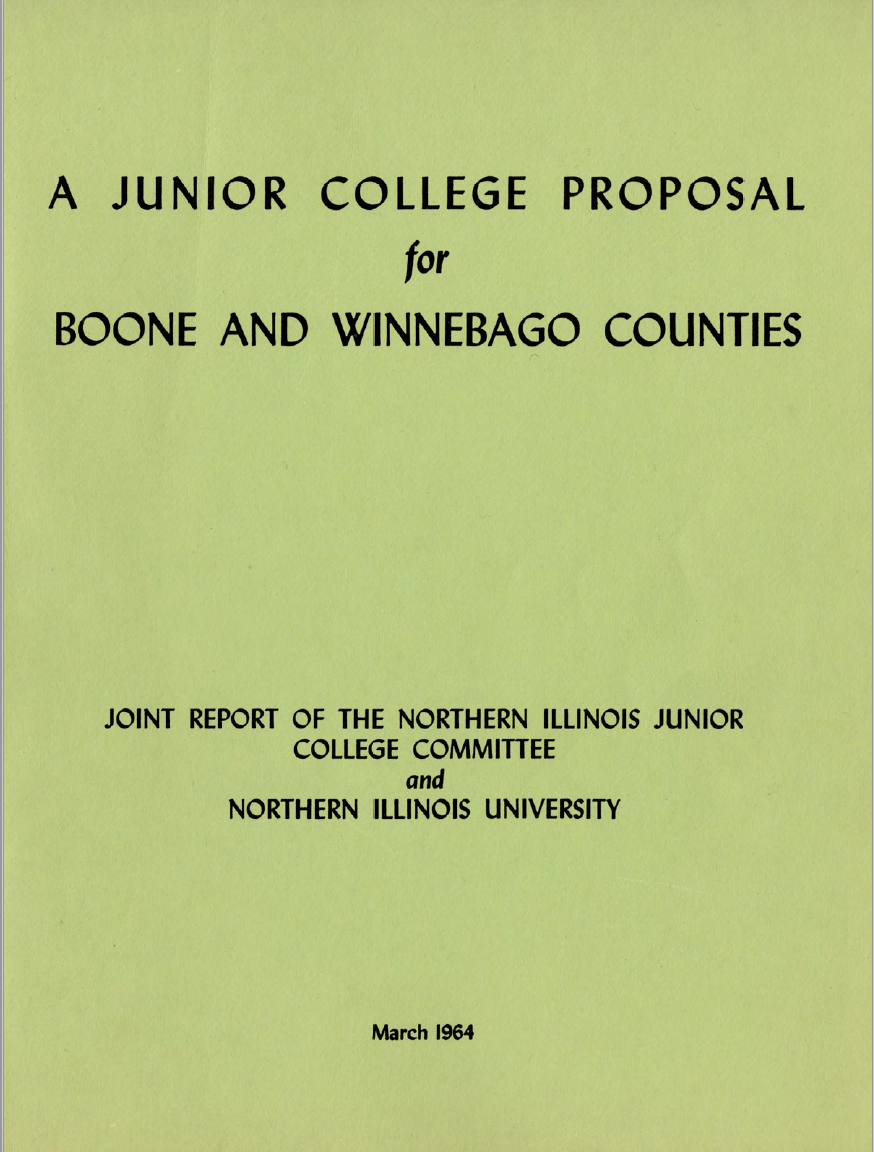 A Junior College Proposal for Boone and Winnebago Counties